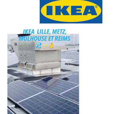 Nettoyage de panneaux solaires pour les magasins IKEA
