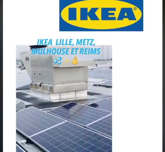 Nettoyage de panneaux solaires pour les magasins IKEA 0