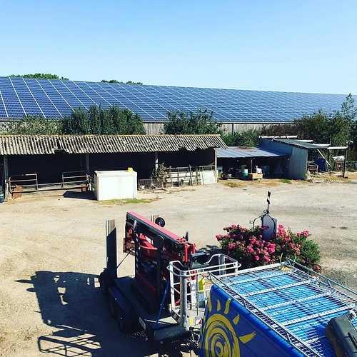Nettoyage de 1600m2 de panneaux photovoltaïques - Herbignac- 44 0