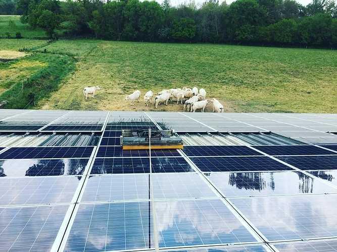 Nettoyage panneaux solaires exploitation agricole - Plouarsel Finistère 0